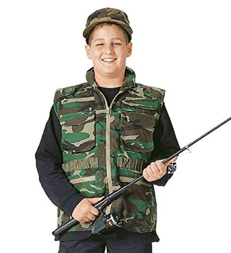 - BlackC Sport Kids Woodland Camouflage Ranger Vest with Hood