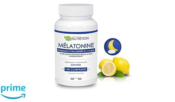 Melatonina + Vitamina B6: * regulador del reloj orgánico * Pulsions de grignotage * VITAMINA DEL SUEÑO * endormissement Serein * despertador lucide ...