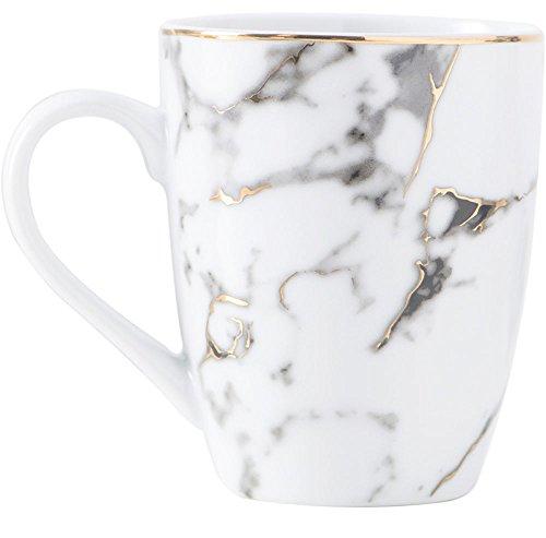 MISS TUTU Ceramic Marbling Coffee Mug Tea Mug Morning Milk Mug with Handle