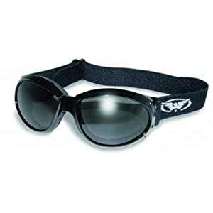 Global Vision Eyewear Eliminator Goggles with Micro-Fiber Pouch, Smoke Lens