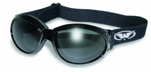 Global Vision Eyewear Eliminator Goggles with Micro-Fiber Pouch, Smoke - Goggles Sunglasses Or