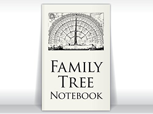 Family Tree Notebook, 2-books-per-order gifts for baby, men, women, grandparents, in-laws, children for genealogy memories/ancestor stories. from FreshRetroGallery