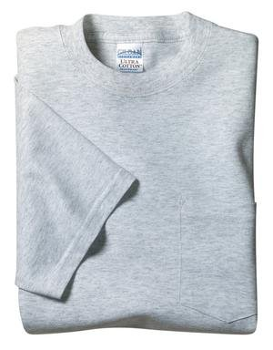 Gildan Ultra Cotton - 100% Cotton T-Shirt with Pocket 2300 (M / Ash** (3XL))