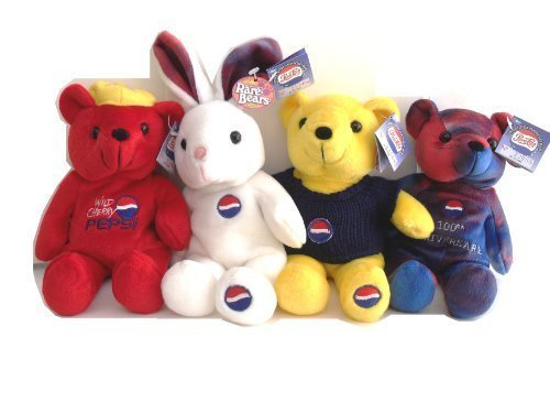 (Pepsi Cola 100th Anniversary 1999 Set Four Bears Set)