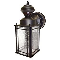 Heathzenith Hz-4133-or Shaker Cove Mission-style 150-degree Motion-sensing Decorative Security Light, Oil-rubbed Bronze