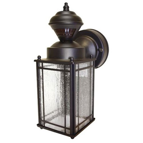 Heath/Zenith HZ-4133-OR Shaker Cove Mission-Style 150-Degree Motion-Sensing Decorative Security Light, Oil-Rubbed (Outdoor Lantern Lights)