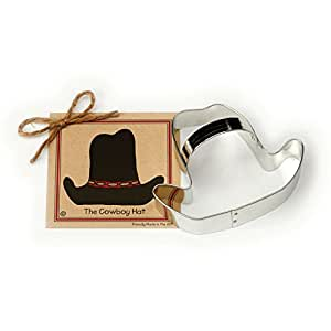 Cowboy Hat Cookie and Fondant Cutter - Ann Clark - 4.8 Inches - US Tin Plated Steel