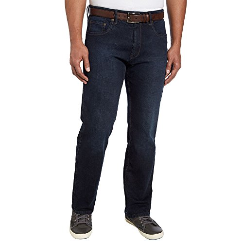 Urban Star Mens Relaxed Fit Straight Leg Jeans (34 x 30, Dark - Blue Star Jeans