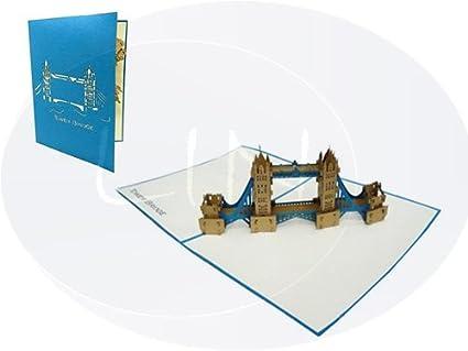 best cheap 3be4f 0c2cf LIN - Pop Up 3D Biglietto di auguri, Tower Bridge di Londra Gran Bretagna  (#187)