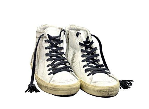 Golden Goose Hi Top Sneakers Uomo G32MS595TEX Pelle Bianco