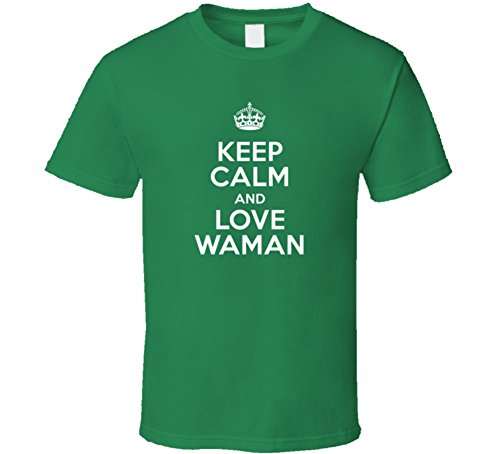 Waman Keep Calm and Love Parody Custom Name T Shirt M Irish Green