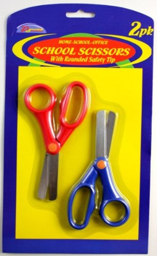 2Pk School Scissors Rounded Tip [72 Pieces] *** Product Description: 2 Pack School Scissors With Rounded Safety Tip Ideal For Home-School-Office. Good Quality ***
