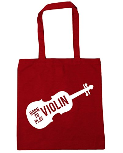 Shopping Red 42cm Gym Tote Beach to Bag HippoWarehouse Violin Play Born litres Classic x38cm 10 YXq46