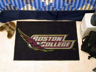 Boston College Eagles Floor Mat w Plush Black Carpet ()