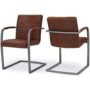 Amazon.com: Arlo Slate moderno Arm Chair de microfibra (2 ...