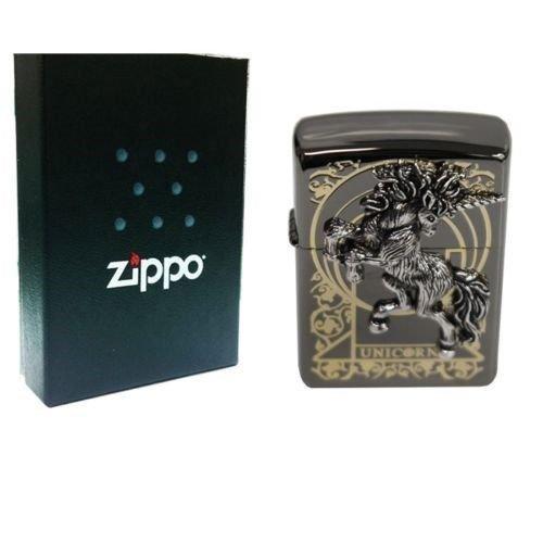 Zippo Unicorn Black Ice Lighter Made in USA / South Korea Version