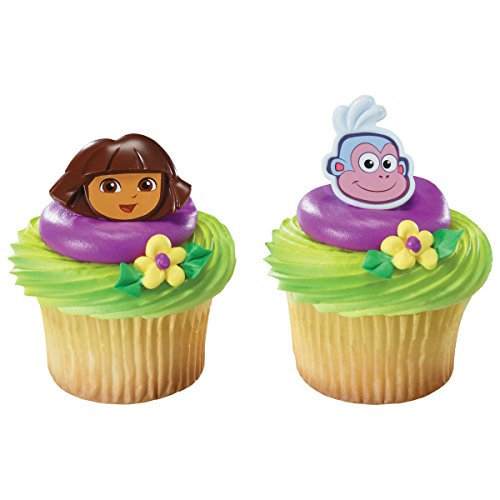 Dora the Explorer and Boots Cupcake Rings - 12 count