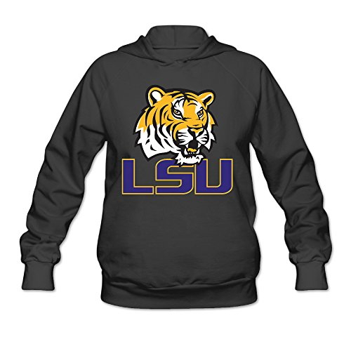 [Fennessy Women's Sweatshirt LSU Tiger Logo Size XXL Black] (Lsu Mascot Costume)