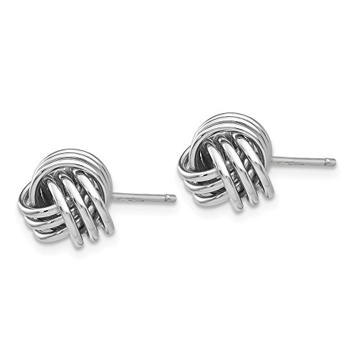 14kt White Gold Ridged Love Knot Post Earrings by Perfume4All (Image #1)