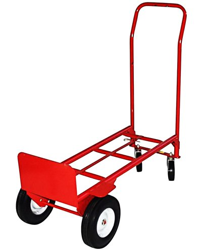Milwaukee Hand Trucks 40180 Convertible Truck with 10-Inch Puncture Proof Tires and Steel Hub