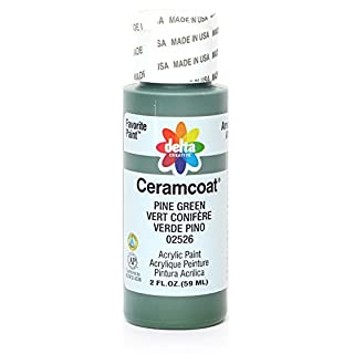 Delta Creative Ceramcoat Acrylic Paint in Assorted Colors (2 oz), 2526, Pine Green