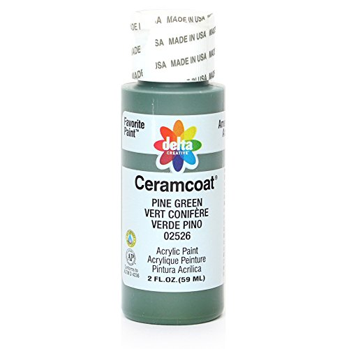 (Delta Creative Ceramcoat Acrylic Paint in Assorted Colors (2 oz), 2526, Pine Green)