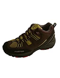 Fuerza Mens Outdoor Tracking Hiking Trail Running Shoes - Brown