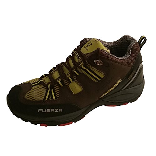 Fuerza Mens Outdoor Tracking Hiking Trail Running Shoes - Brown (9)