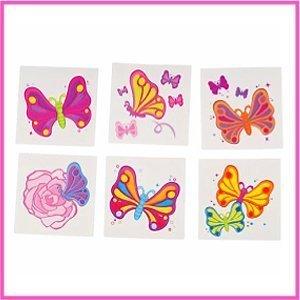 Rhode Island Novelty Butterfly Temporary Tattoos, 144-Piece (Girly Best Friend Tattoos)