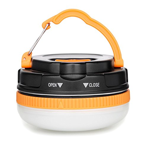Yustar LED Camping Light And Emergency Lantern 3W Super Bright Multifunctional LED Portable Emergency Tent Night Light with SOS lighting Mode,Magnetic Bottom, Rainproof, Pure White Lighting …