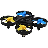 Owill H36 Mini Drone 2.4Ghz 4CH 6-Axis Gyro RC Quadcopter Headless LED 360° Flip Helicopter (Black)