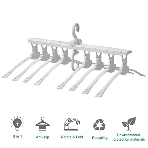 (Multi-function Wardrobe Magic Plastic Clothing Hanger,Closet Space Saving hanger for Home/Travel/Camping,Can Rotate 360 Degrees and Fold,Folding Drying Rack for Adult Kids Shirt/Sweater/Suit Pants.)