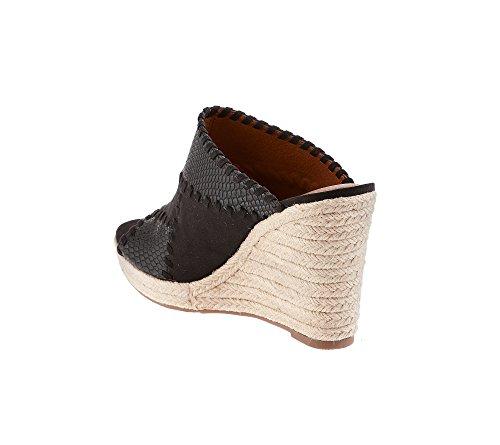 Espadrille Ruff Hewn Black Wedge Caruso Sandals t11drqw