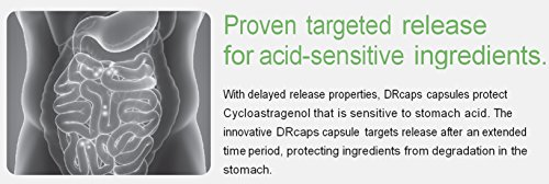 Stomach Acid Protected & Super-Absorption Cycloastragenol 99%, Made in USA, 10mg, 90caps by Nature's Bliss (Image #5)