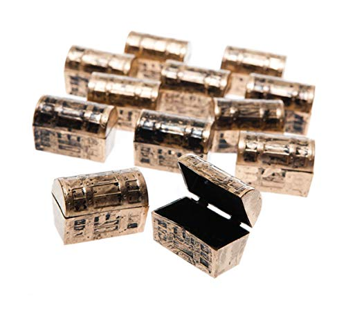 US Toy Mini Pirate Treasure Chests  - (2 Set of 12)
