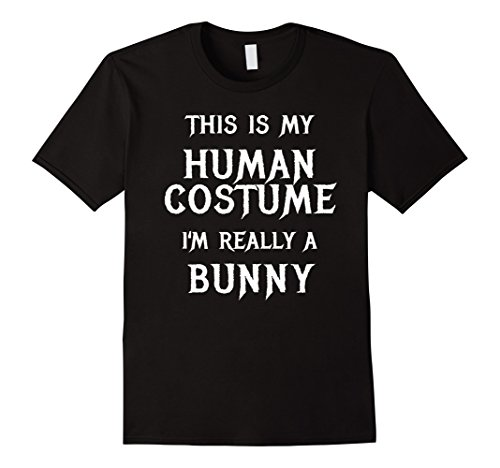 [Mens I'm Really a Bunny Halloween Costume Shirt Women Men Girls Small Black] (Bunny Costume Diy)