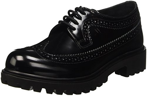 Lumberjack Regent, Zapatos de Cordones Derby para Mujer Negro