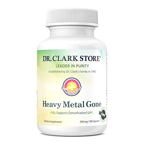 Neutralizes Heavy Metals (Dr. Clark Heavy Metal Gone 500 MG 100 Capsules)