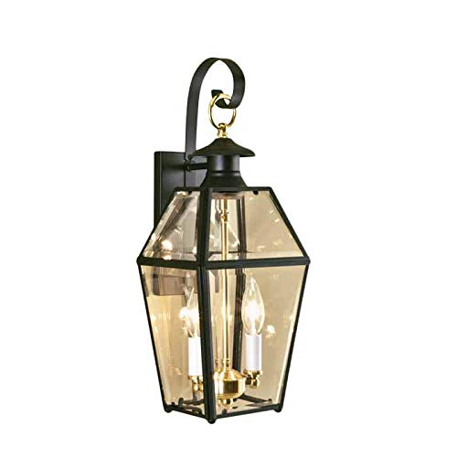 (Norwell Lighting 1066 Old Colony 2 Light Outdoor Wall Sconce (Verde w/Beveled Glass))