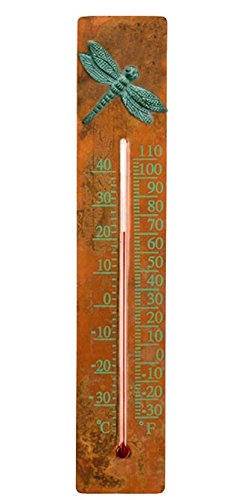 Ancient Graffiti Copper Dragonfly Thermometer (Ancient Graffiti Thermometer)