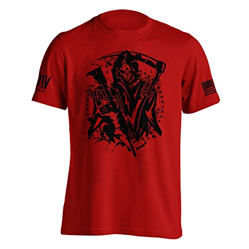 (Dion Wear American Grim Reaper Military T-Shirt X-Large Red)