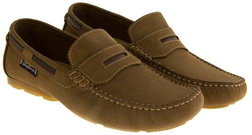 Footwear Studio - Náuticos de forro: fibra sintética para hombre blue/navy/navy blue/tan marrón - canela