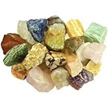 Fantasia Materials: 1 Pound of Bulk Rough Brazilian Stone Mix - Raw Natural Crystals and Rocks for Cabbing, Cutting, Lapidary, Tumbling, Polishing, Wire Wrapping, Wicca & Reiki Healing