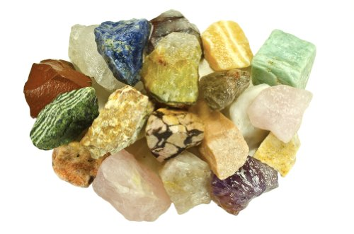 Fantasia Materials: 3 Pounds (Best Value) Bulk Rough Brazilian Stone Mix - Raw Natural Crystals and Rocks for Cabbing, Cutting, Lapidary, Tumbling, Polishing, Wire Wrapping, Wicca & Reiki