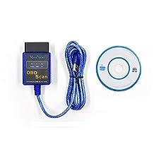 LHZTECH Vgate ELM327 USB OBD Scan USB Diagnostic Scanner Work With OBD2 Vehicle Vgate ELM 327 USB OBD2 Scan (blue)