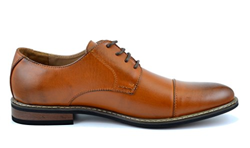 Bruno HOMME MODA ITALY PRINCE Men's Classic Modern Oxford Wingtip Lace Dress Shoes,PRINCE-6-BROWN,12 D(M) US