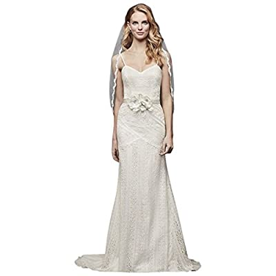 Allover Lace Tank Sheath Wedding Dress Style WG3916