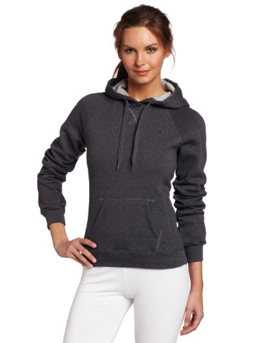 Champion Women's Pullover Eco Fleece Hoodie, Granite Heather, Large