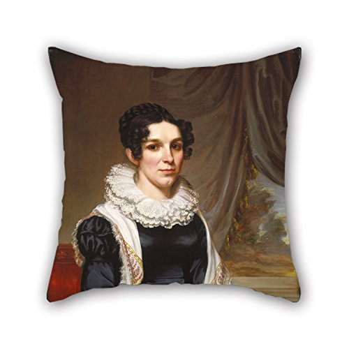 Oil Painting Samuel Lovett Waldo - Maria Clarissa Leavitt Throw Pillow Covers ,best For Drawing Room,sofa,dinning Room,couch,gf,bench 18 X 18 Inch / 45 By 45 Cm(2 Sides) (Samuel Black Sofa)