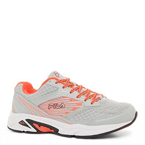 Image of Fila Women's Inspell 3-w Running Shoe, Highrise/Fiery Coral/Black, 7.5 M US